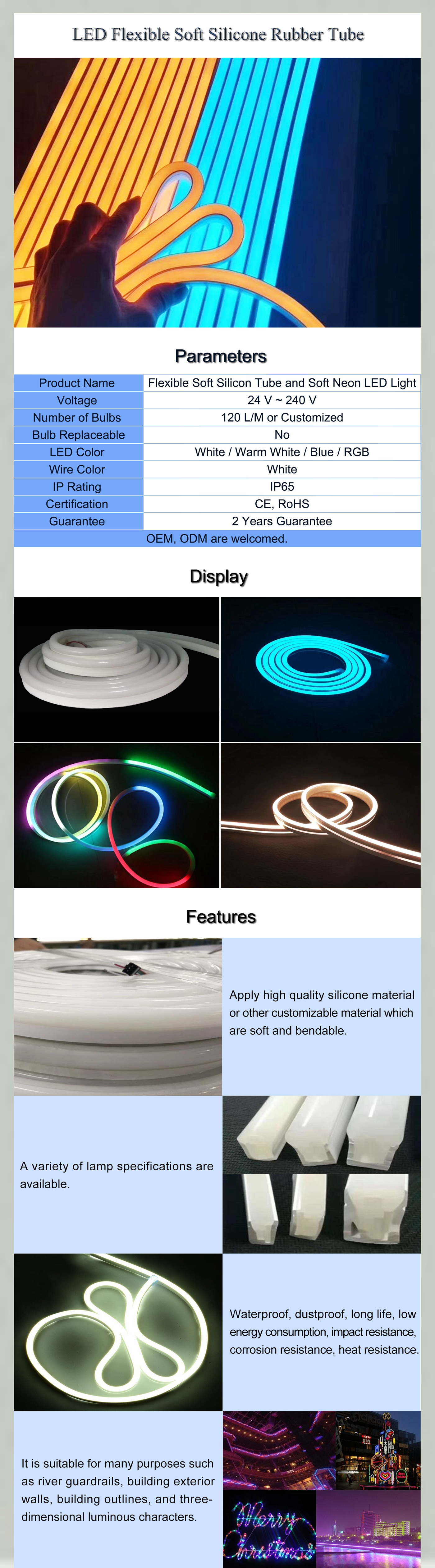 Soft Silicone Rubber LED Strip