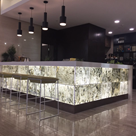 LED Backlit Counter Onyx