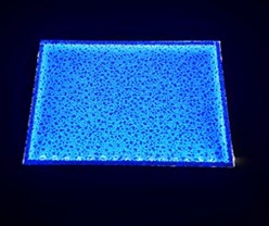 led panel backlit art glass and stained glass